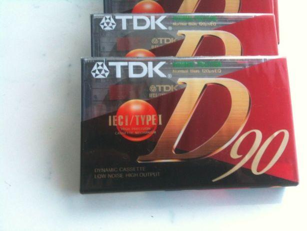 аудиокассеты TDK-D90 9 штук