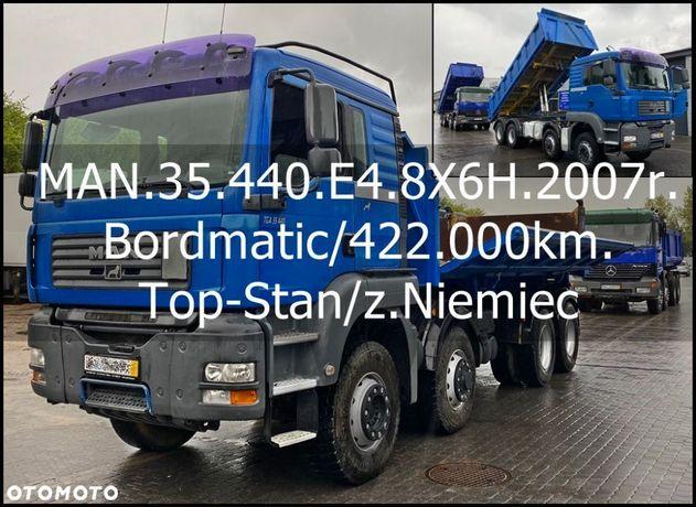 MAN Bezwypadkowy_Serwisowany_TOP-STAN  35.440/8X6H/3.Str.Wywrotka/Bordmatic/Rok.prod.2007/11/z.Niemiec