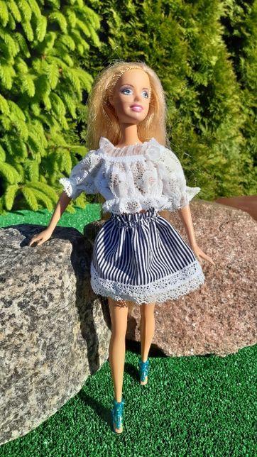 BS3 Bluzeczka spódniczki chusty ciuszki ubranka dla lali typu Barbie