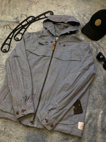 Белая/синяя ветровка/куртка/рубашка george zara levis asos h&m polo