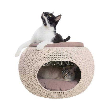 Cama para gatos ou cães pequenos com design moderno da Curver. Nova