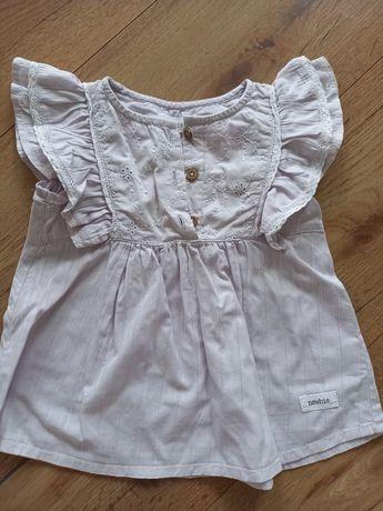 Bluzka liliowa bluzeczka newbie r. 86