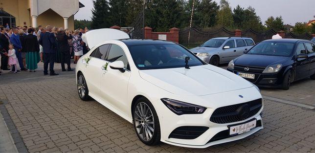Mercedesem do Ślubu Wynajem Auta na ślub Mercedes CLA 220 AMG Nowy