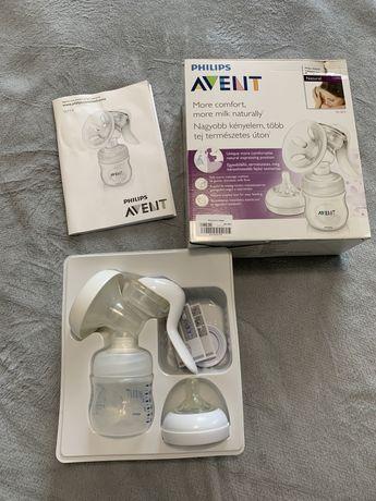 Молоковідсмоктувач ручний Philips Avent Natural з пляшкою.