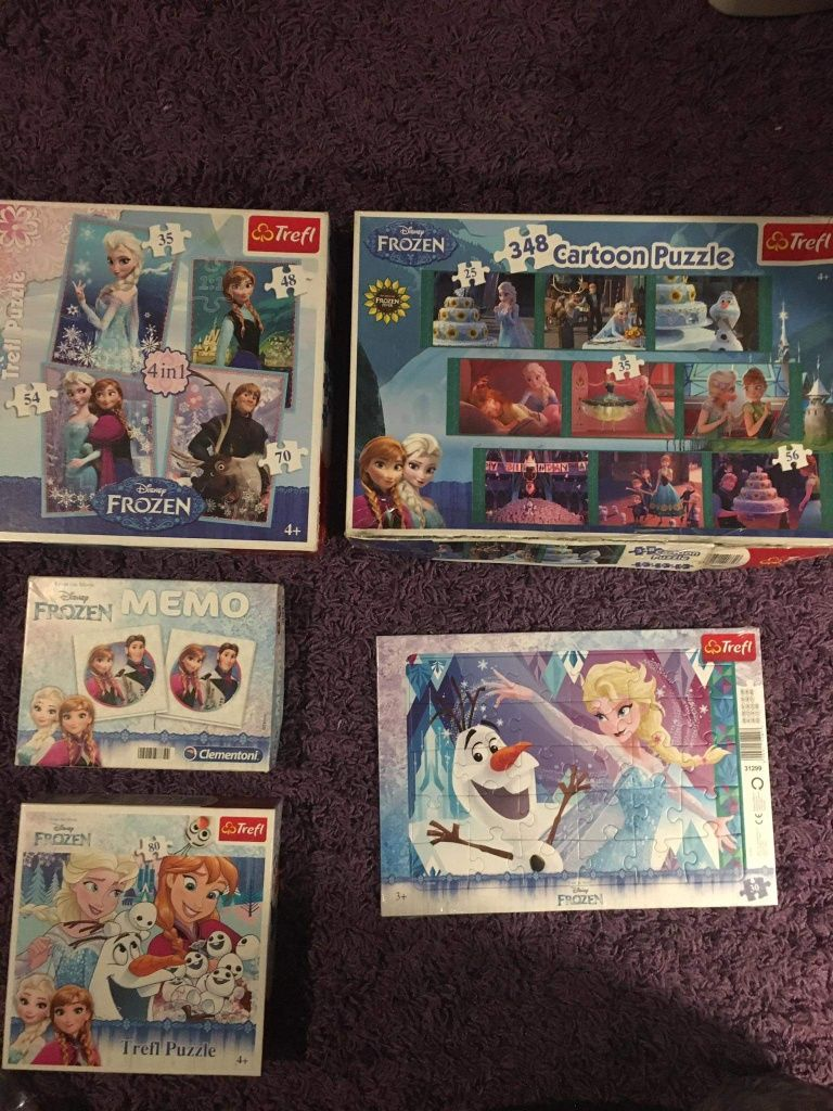 Puzzle i gra memo Kraina lodu i ksieżniczki Disneya