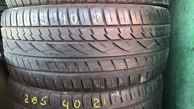 шини літо 265 40 21 Continental комплект 6мм 18 рік 105YXL Континентал