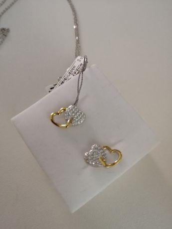 Kolczyki srebrne z cyrkoniami Verona