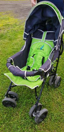 Wózek spacerowy zielony z dodatkami