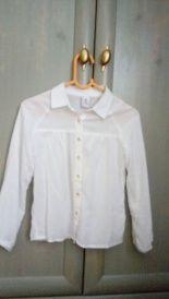Biała bluzka z długim rękawem - strój galowy roz. 116 Reserved