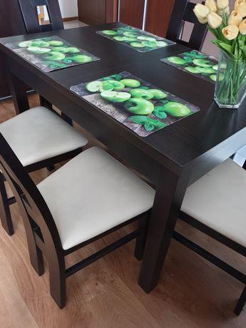 Stół rozkładany + 6 krzeseł