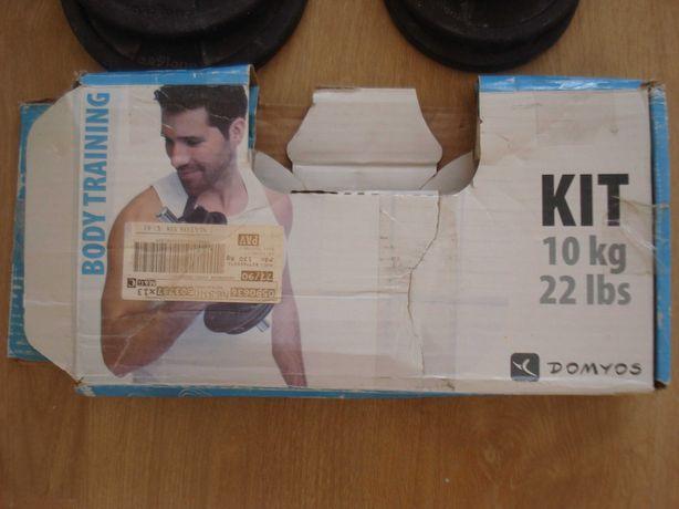 Kit Training 10 Kg. Está como novo