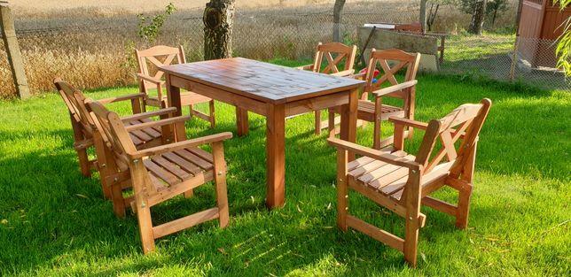 Meble ogrodowe, zestaw ogrodowy stół + 6 krzeseł