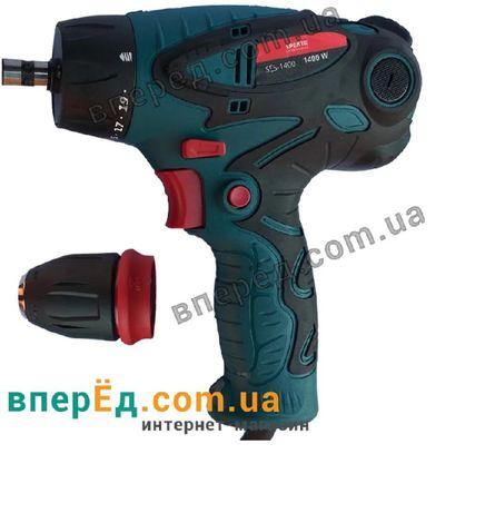 Шуруповерт Spektr SES-1400 DFR съемный патрон