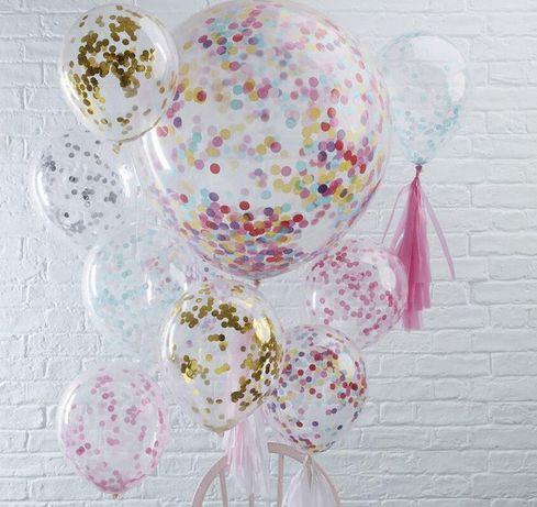 """Шары воздушные прозрачные """"10""""(26см) кульки, декор, фотозона, свадьба"""