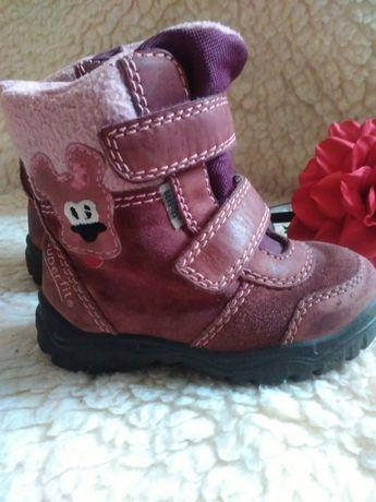 Ботинки сапожки демесезонные 20-21р-р натуральная кожа-замша