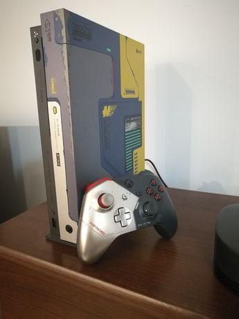 Xbox One x 4k HDR 1TB edycja Cyberpunk stan idealny+Far cry new dawn