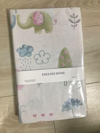 Детское постельное белье комплект English home
