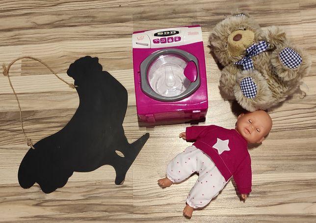 Zestaw zabawek - pralka, lalka i inne