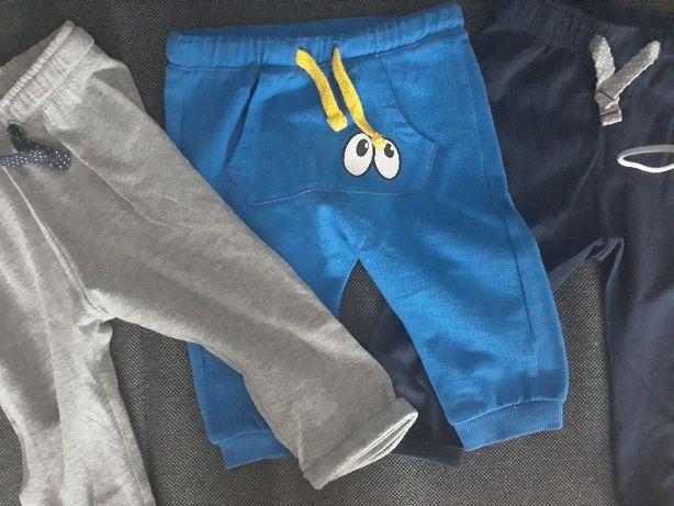 Spodnie dziecięce chłopiec rozmiar 74