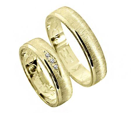 Goldrun Złote Obrączki Ślubne R006 Para Bezszwowe