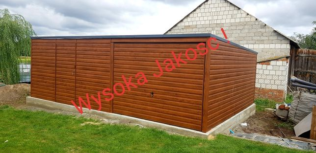 Garaże drewnopodobne na wymiar ( profil,blaszaki,garaze blaszane)