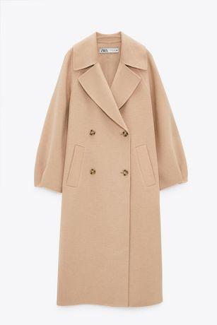 Пальто шерстяное Zara лимитированная коллецкия (размер S)