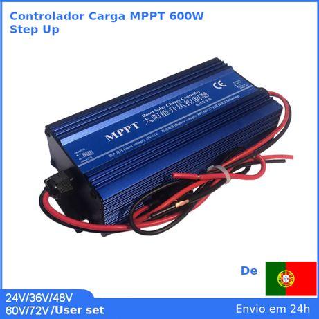 Controlador carga solar MPPT 600W, 16A Step-UP