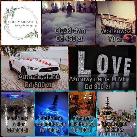 Namiot Imprezowy, Napis LOVE, Fontanna Czekoladowa i Alkoholowa