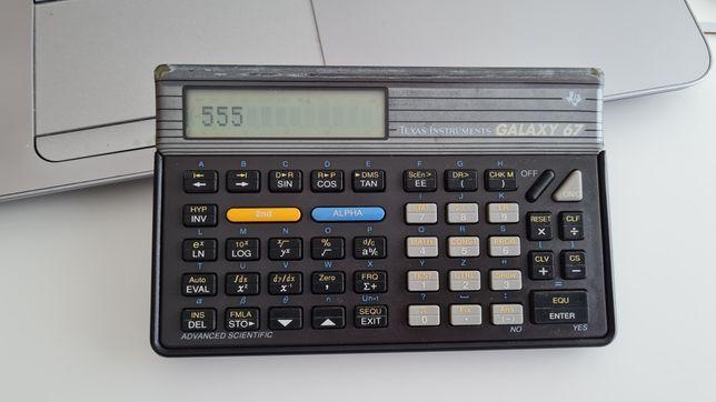 Máquina calculadora científica Texas Galaxy 67