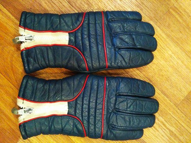 Тёплые кожаные перчатки женские