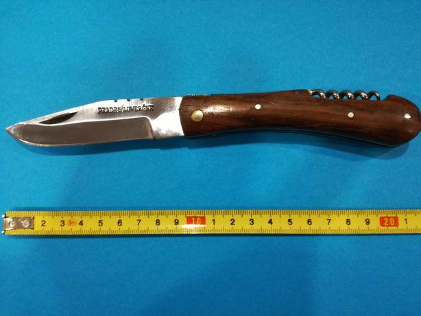 """Canivete de Caça """"Pradel Auvergne""""  c/ Saca Rolhas e Cabo em Madeira"""