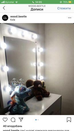 Дзеркало білого кольору в стилі LOFT