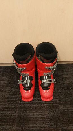 Buty narciarskie Salomon T3 22/22,5 czerwone dla dziecka.