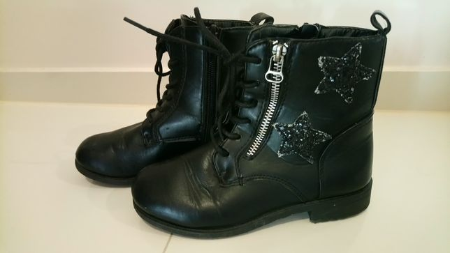 Czarne botki dla dziewczynki