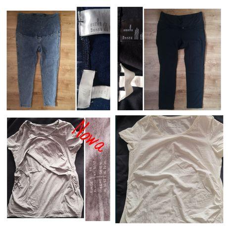Zestaw ubrań ciążowych, 48, 50, 52,nowe, spodnie ciazowe, bluzka ciąża