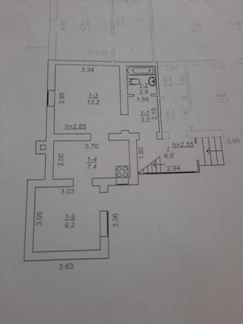 продаж 2 кім квартири особнячного типу 36м  рн Окружної, без ремонту