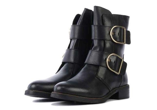 Женские кожаные ботинки сапоги tommy hilfiger 42 43 размер