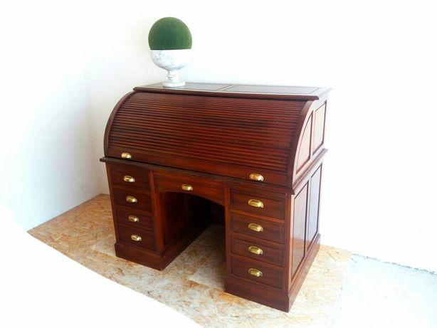 Secretária de Persiana + Cadeirão escrivaninha esteira Antiga Vintage