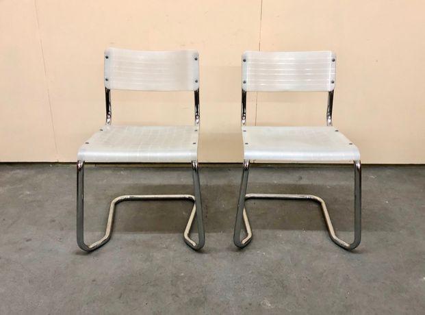 Para krzeseł SPILIMBERGO vintage Włochy design lata 90. bauhaus