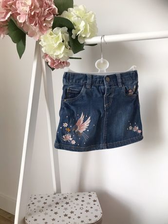 Piękna haftowana spódniczka F&F jeansowa rozm 98