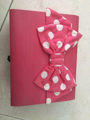 Caixas guarda acessórios pequenos espelho feito à mão pintado boneca