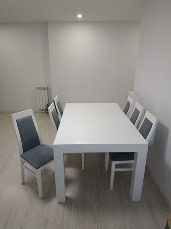 Semi-novo mesa jantar,6cadeiras
