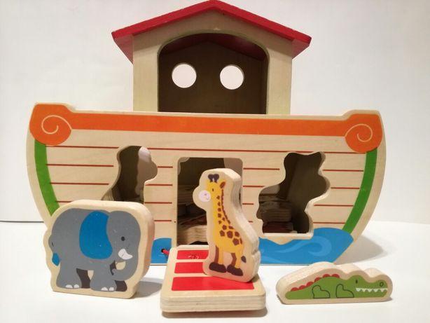Arka domek drewniany układanka zabawka