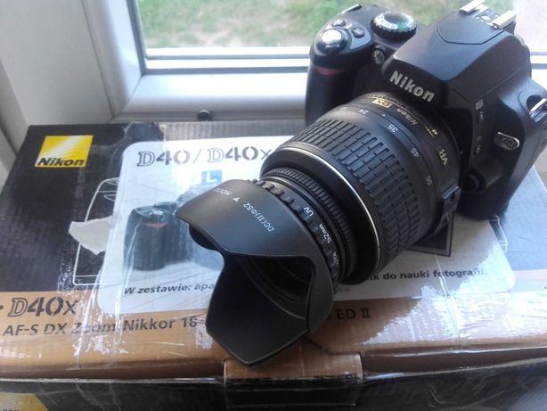Nikon D 40  Plus 18-55 AF-S DX VR Stan Idealny