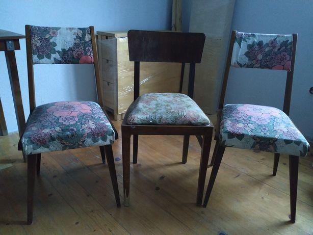 Krzesła Krzesło PRL 3 sztuki
