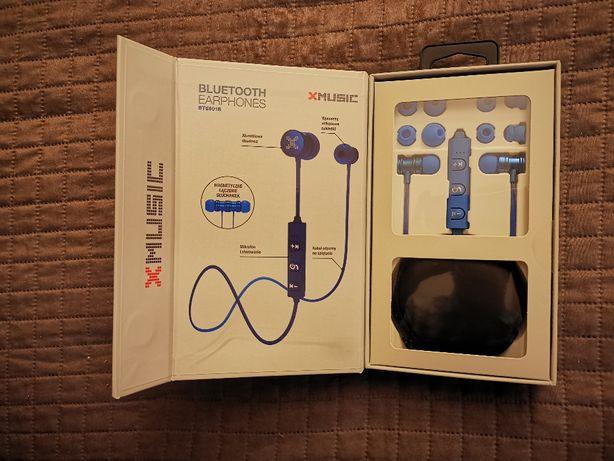 Słuchawki dokanałowe Bluetooth 5.0 XMUSIC BTE601B Blue bezprzewodowe