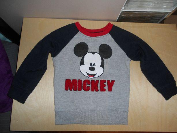 Myszka Mickey bluza bluzka Miki 18-24m Disney jak nowa