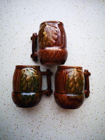 Starodawne filiżanki kubki 3szt 200ml antyk
