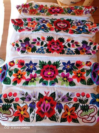 80x80 LUDOWE poszewki na poduszki wyszywane ręcznie