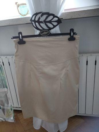 Spódnica ciążowa elegancka jasna 40